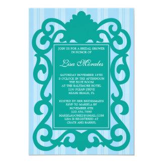 Invitación nupcial elegante de la ducha