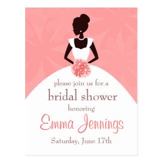 Invitación nupcial elegante de la ducha tarjetas postales