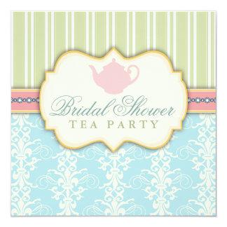 Invitación nupcial elegante del té de la ducha del