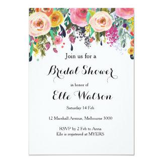 Invitación nupcial elegante floral de la ducha