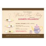 Invitación nupcial encantadora de la fiesta del té