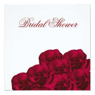 Invitación nupcial floral de la ducha de los rosas