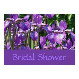 Invitación nupcial floral de la ducha del boda de