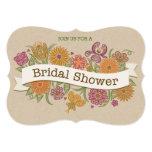 Invitación nupcial floral de la ducha del otoño