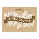 Invitación nupcial floral II de la ducha del otoño