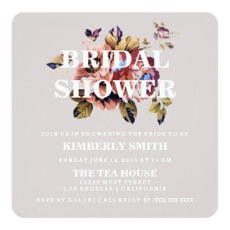 Invitación nupcial floral moderna de la ducha