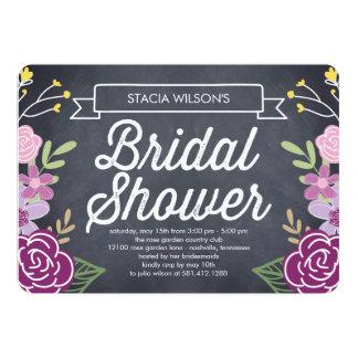 Invitación nupcial floral radiante de la ducha -