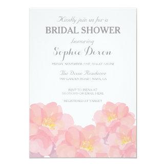 Invitación nupcial floral rosada hawaiana de la