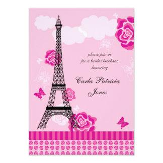 Invitación nupcial francesa de la ducha de la invitación 12,7 x 17,8 cm