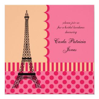 Invitación nupcial francesa de la ducha de la invitación 13,3 cm x 13,3cm