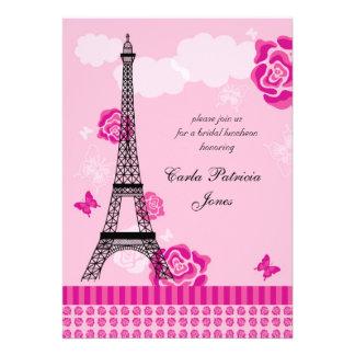 Invitación nupcial francesa de la ducha de la torr