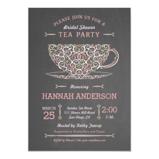 Invitación nupcial I de la fiesta del té de la