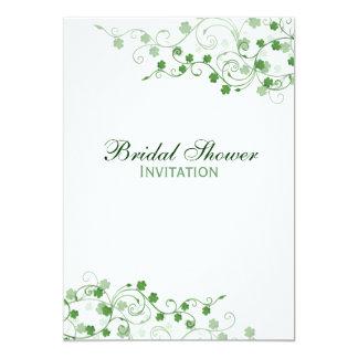 Invitación nupcial irlandesa de la ducha del