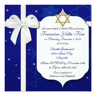 Invitación nupcial judía de encargo de la ducha