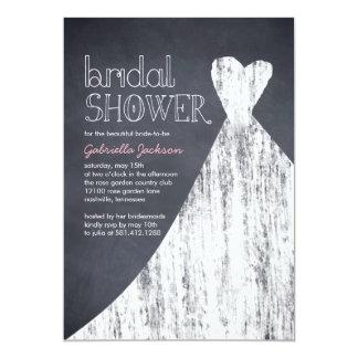 Invitación nupcial marcada con tiza de la ducha