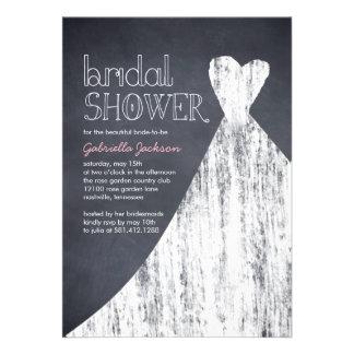 Invitación nupcial marcada con tiza de la ducha de