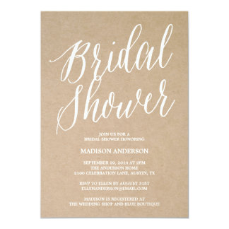 Invitación nupcial moderna de la ducha de la