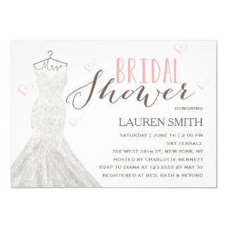 Invitación nupcial moderna de la ducha de la novia