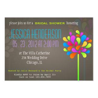 Invitación nupcial moderna y de la diversión del invitación 12,7 x 17,8 cm