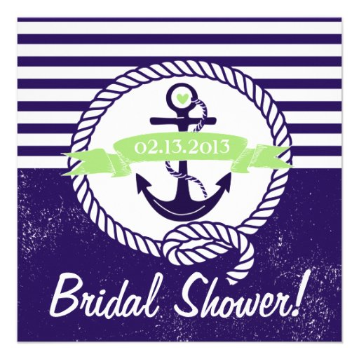 Invitación nupcial náutica de la ducha de las