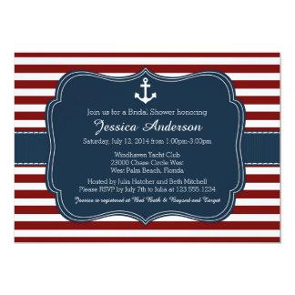 Invitación nupcial náutica de la ducha o de la