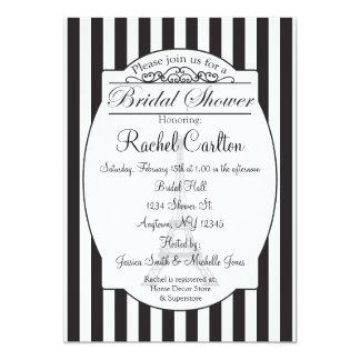 Invitación nupcial negra de la ducha de París Invitación 12,7 X 17,8 Cm