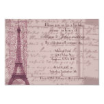 Invitación nupcial parisiense rosada de la ducha