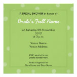Invitación nupcial pintada de la ducha del verde d