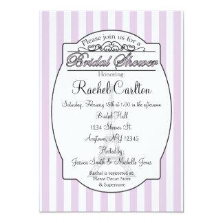 Invitación nupcial púrpura de la ducha de París Invitación 12,7 X 17,8 Cm