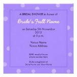 Invitación nupcial púrpura pintada de la ducha de