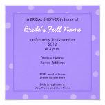 Invitación nupcial púrpura pintada de la ducha de invitación 13,3 cm x 13,3cm