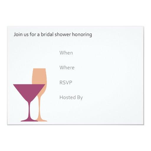 Invitación nupcial retra de la ducha invitación 11,4 x 15,8 cm