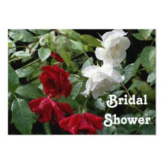 Invitación nupcial roja de la ducha del boda de