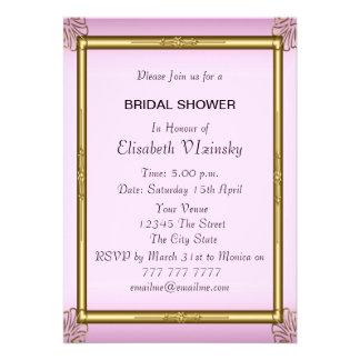 Invitación nupcial rosada de la ducha