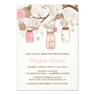 Invitación nupcial rosada de la ducha de los