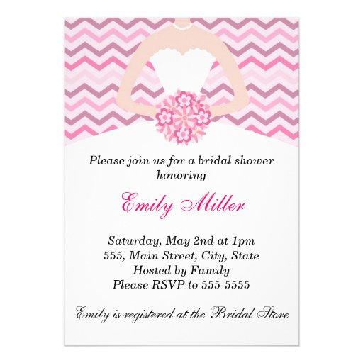 Invitación nupcial rosada del boda de la ducha de