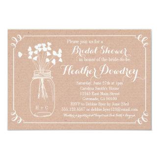 Invitación nupcial rústica de la ducha del boda