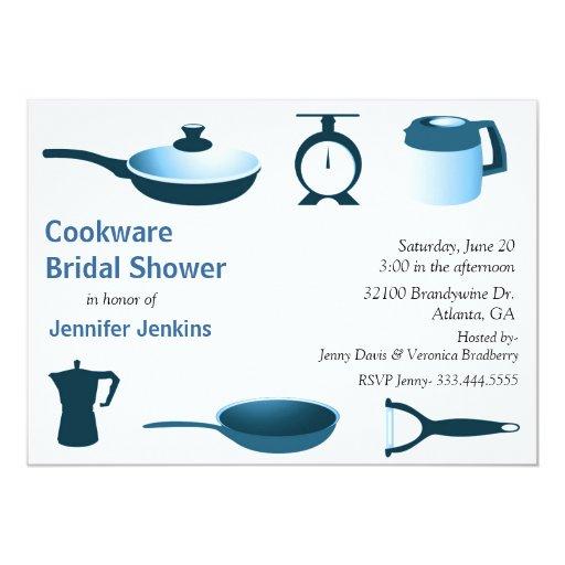 Invitación nupcial temática de la ducha de la