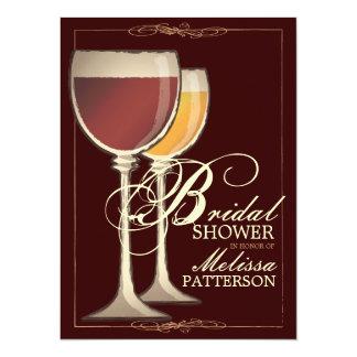 Invitación nupcial temática de la ducha del vino invitación 13,9 x 19,0 cm