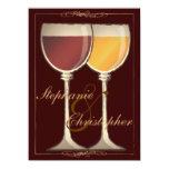 Invitación nupcial temática de la ducha del vino