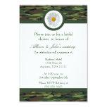 Invitación nupcial verde de la ducha de Camo