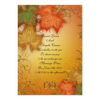 Invitación o fiesta del boda de la caída