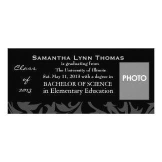 Invitación o invitación de la graduación tarjeta publicitaria