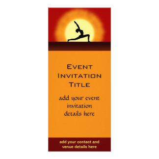 Invitación o invitación de la salida del sol de la