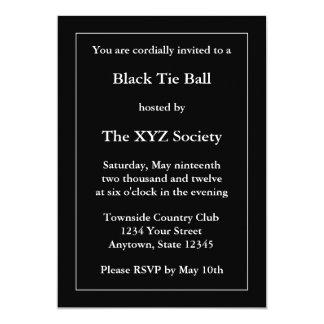 Invitación o invitación negra formal de encargo