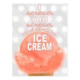 Invitación o promoción del fiesta del helado - tarjetas postales