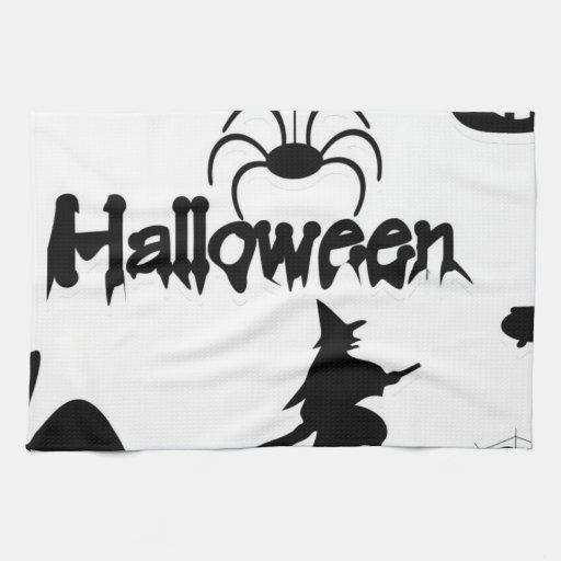 invitación o truco de Halloween Toalla De Cocina