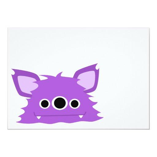 Invitación observada del monstruo de la púrpura invitación 12,7 x 17,8 cm