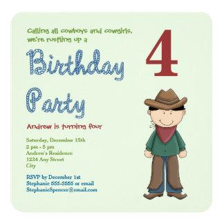Invitación occidental de la fiesta de cumpleaños