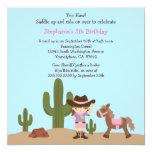 Invitación occidental de la fiesta de cumpleaños invitación 13,3 cm x 13,3cm